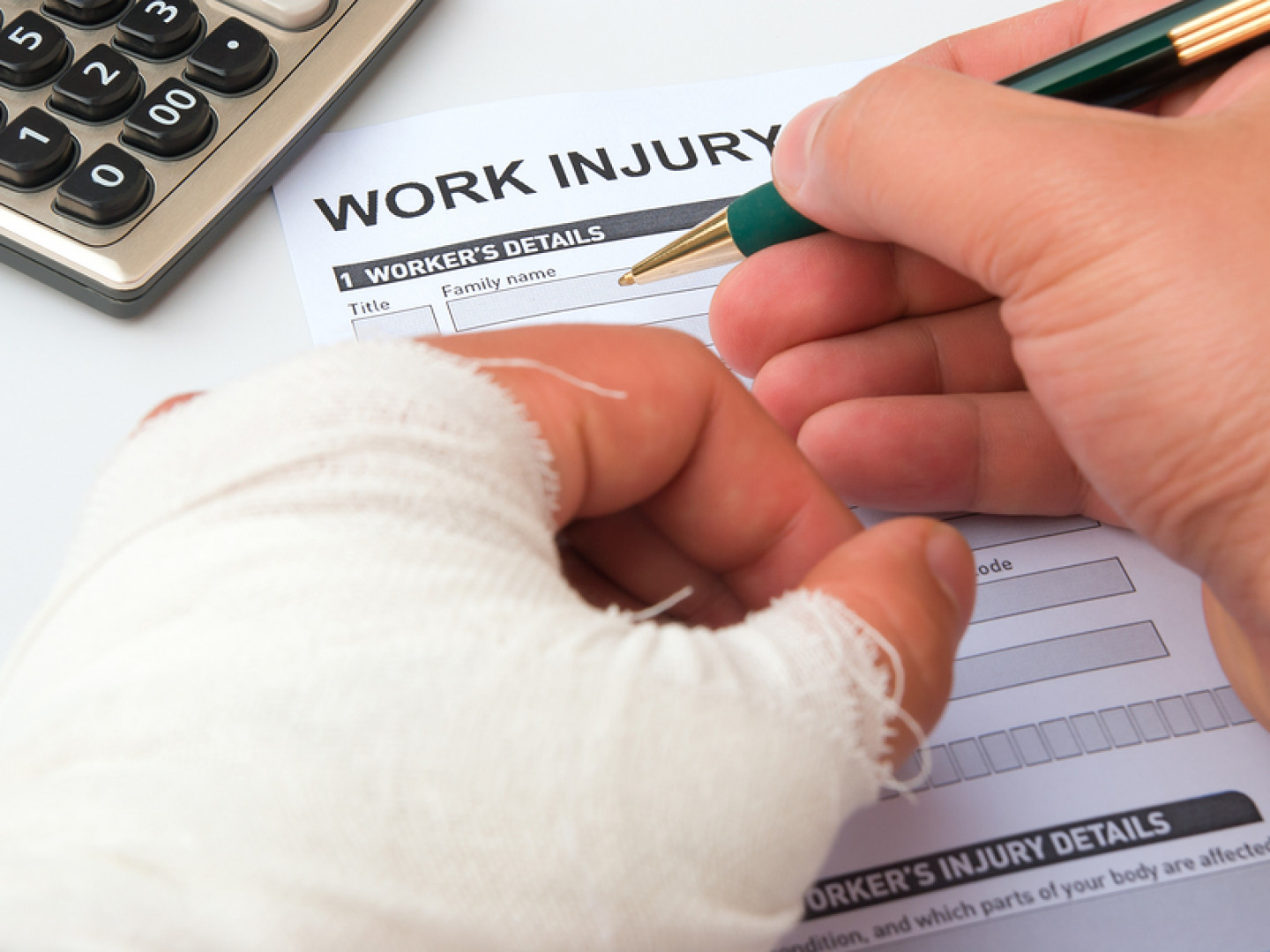 If you're injured on the job, consult an attorney immediately for recovering lost wages and medical losses.